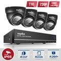 SANNCE 8-КАНАЛЬНЫЙ HD 1080 P DVR Система ВИДЕОНАБЛЮДЕНИЯ 4 шт. 720 P TVI Камеры безопасности ИК Крытый Открытый 8 Каналов видеонаблюдения diy комплект