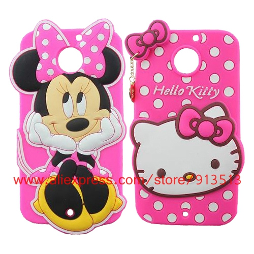 For Moto X2 Case 3D Cartoon Minnie Mouse Hello Kitty