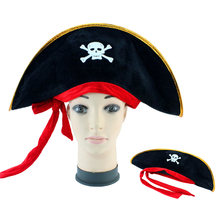 Accesorios de Halloween Caribe pirata sombreros apoyos del partido sombrero  del cráneo piratería sombreros teatro juguete Corsai. e07a05ef2b6