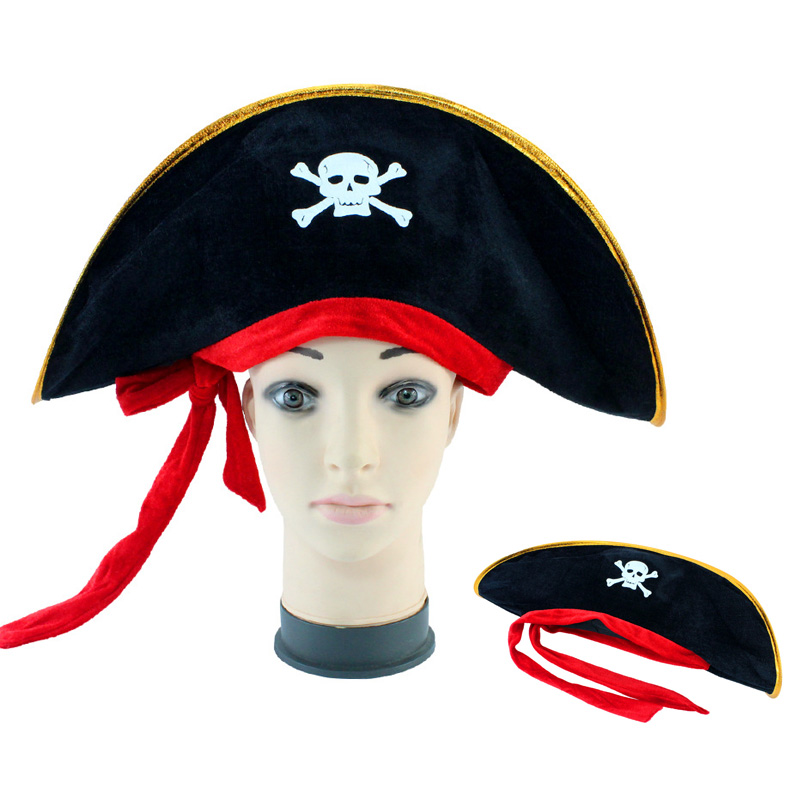 Halloween Accessories Caribbean Pirate Hats Party Props Skull Hat Piracy Hats Theater Toy Corsair Cap Cosplay Costume