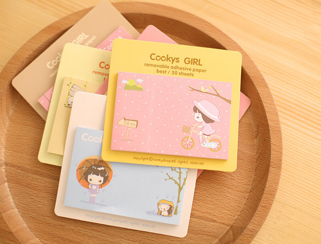 Office & School Supplies Humor Cute Kawaii Animals Family Panda Cat Cow Pig Chicken Sticky Notes Post It Adhesive Memo Pad Planner Stickers Paper Bookmarks
