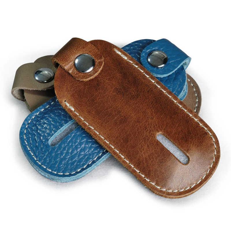 ミニキーホルダー本革キーポーチキーバッグ牛革小さなヴィンテージシンプルな丈夫なポータブル多機能卸売格安