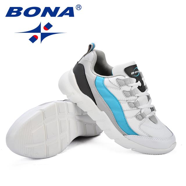 Nueva llegada de BONA, zapatos para caminar de estilo popular para mujer, zapatos deportivos de mujer sintéticos, zapatos para correr al aire libre, zapatillas de mujer con cordones
