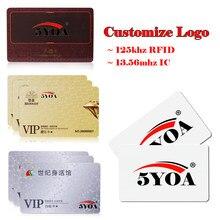 500 adet Özel Logo Tasarım Baskı Desen VIP Baskı RFID ID 125 khz EM4100 Kart 13.56 mhz IC Kart MF s50 Yakınlık Akıllı