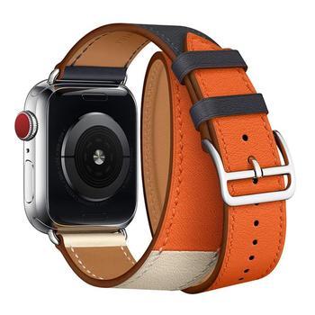 47628fc62a3 IStrap para Apple Watch Band correa de cuero para iWatch accesorios para  serie 1/2/3/4 banda de la correa de 38mm 40mm 42mm 44mm