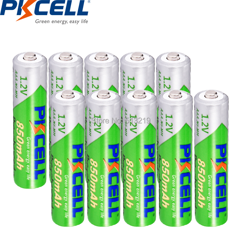 Professional Sale 10pieces Pkcell Aaa Battery 850mah 1.2v Ni-mh Aaa Rechargeable Batteries Lsd 3a Pre-charged Battery Nimh For Toys Flashlight