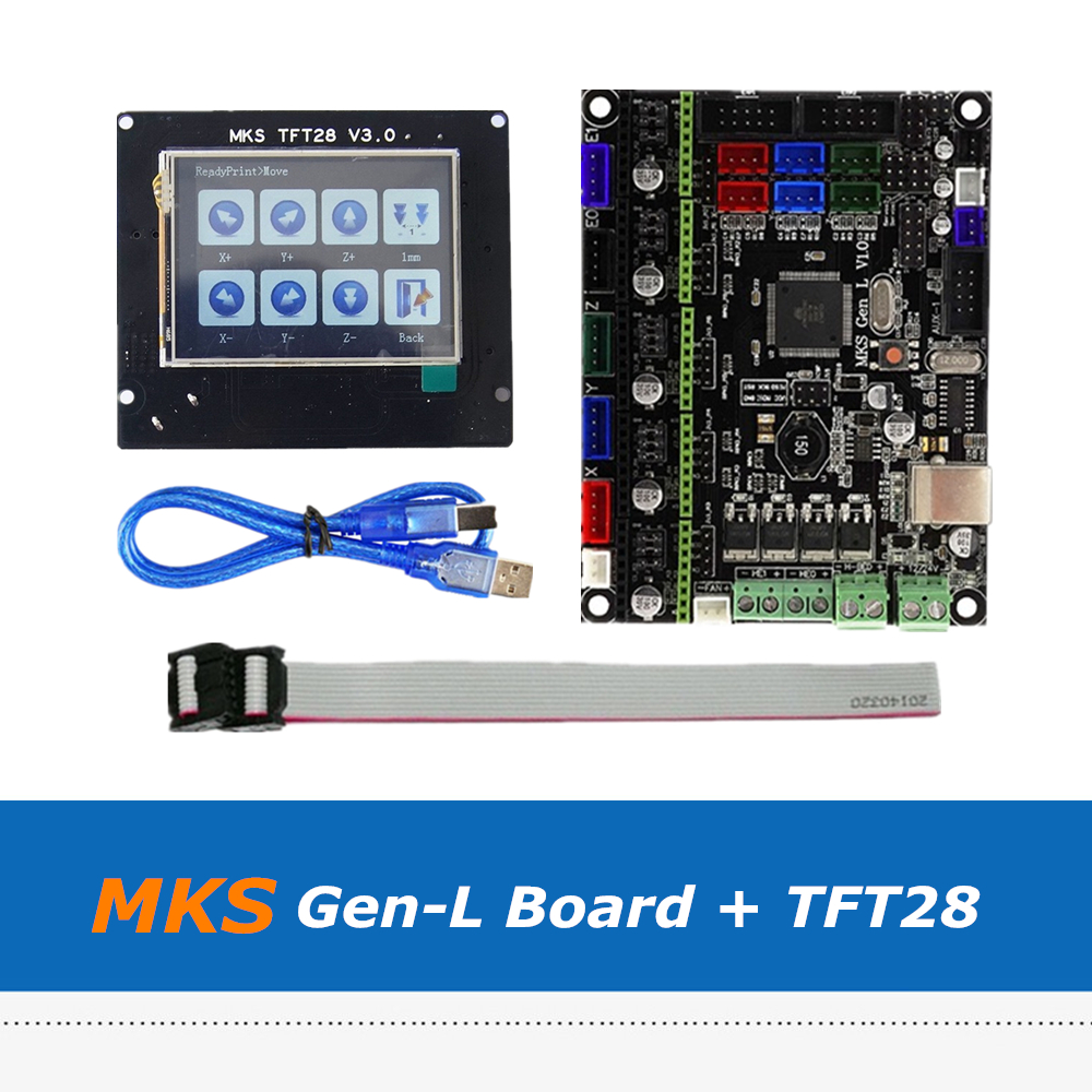 3D Printer Part MKS Gen L V1.0 Integrated Control Board Set + MKS V3.0 TFT28 Full Color Touch Screen 2.8inch|3D Printer Parts & Accessories| |  - title=