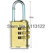 3 Digital Brass Combination Lock 3 Copper password Padlock high quality Brass 3 Number Wheel Combination for Gym Gate 1 pc