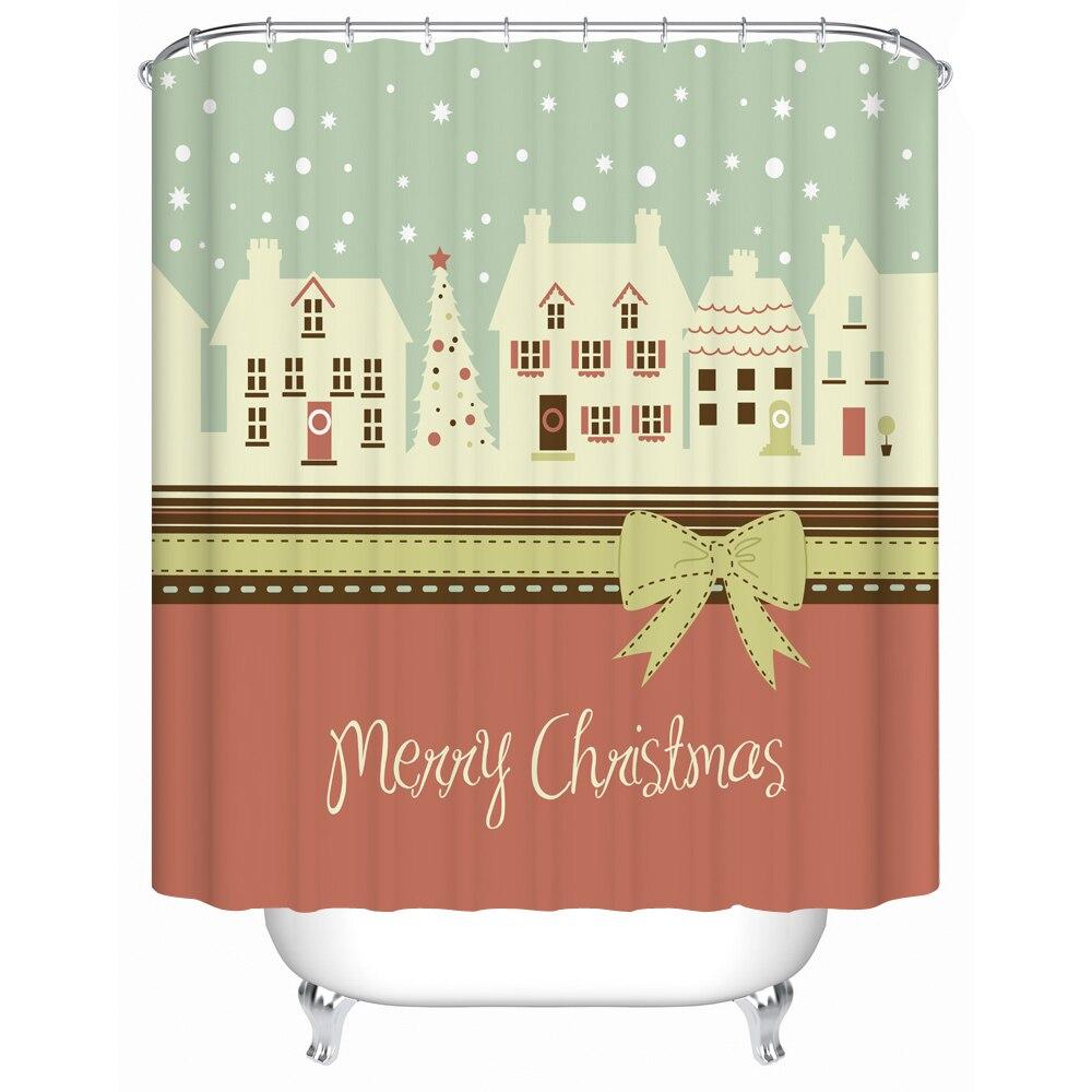 Deer bathroom accessories - Merry Christmas Fabric Shower Curtain Lucky Deer Waterproof Bath Curtains Bathroom Accessories Hot Design Choose