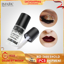 IMAGIC Makeup Fix Waterproof Gel Glitter Eyeshadow Shimmer Pigment Loose Powder  Liquid Glue Lasting