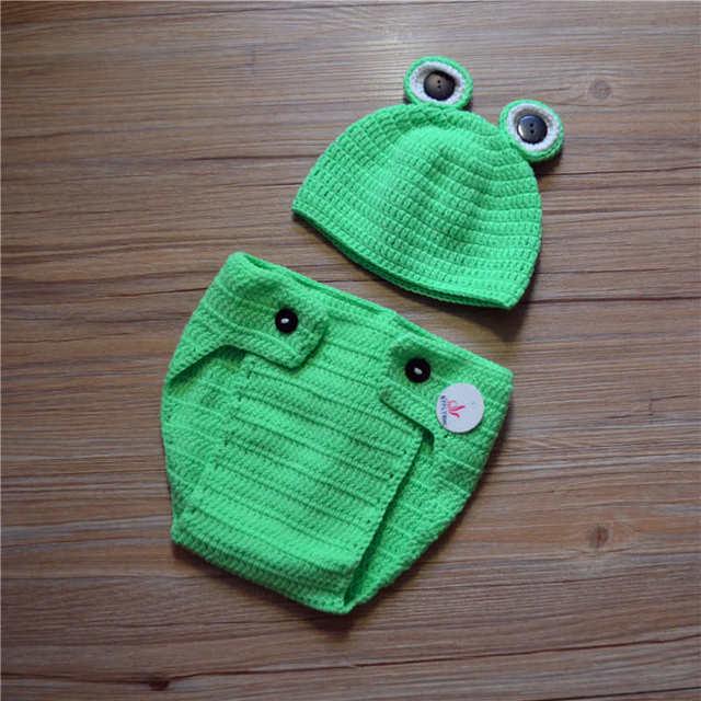 Fotografie Requisiten Häkeln Lotus Frosch Baby Fotografie Prop Set ...