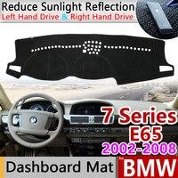 Voor BMW 7 Serie E65 2002 ~ 2008 Anti Slip Anti Uv Mat Dashboard Cover Pad Dashmat Beschermen Tapijt Accessoires 730i 740i 750i 2003-in Auto Stickers van Auto´s & Motoren op