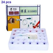 24 adet vakum çukurluğu masaj manyetik çukurluğu seti akupunktur masaj terapi kalınlaşmak masaj kutuları vakum ventouse selülit
