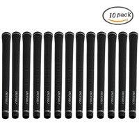 CRESTGOLF Golf Iron Grips Putter Grips Rubber 10pcs/Pack Black Golf Irons Grips Golf Golf Accessories