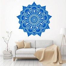 Mandala Blumenmuster Wandtattoo Ornament Indische Wohnzimmer Wandaufkleber Yoga KunstwandhauptdekorChina