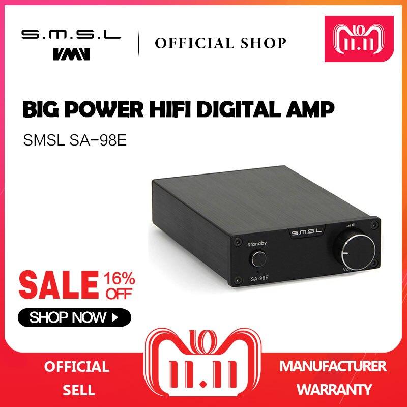 SMSL SA-98E 160W*2 Big Power HIFI Digital Amplifier TDA7498E Class T AMP with 36V 5.7A Power Adapter Supply Black Silver Gold цены онлайн