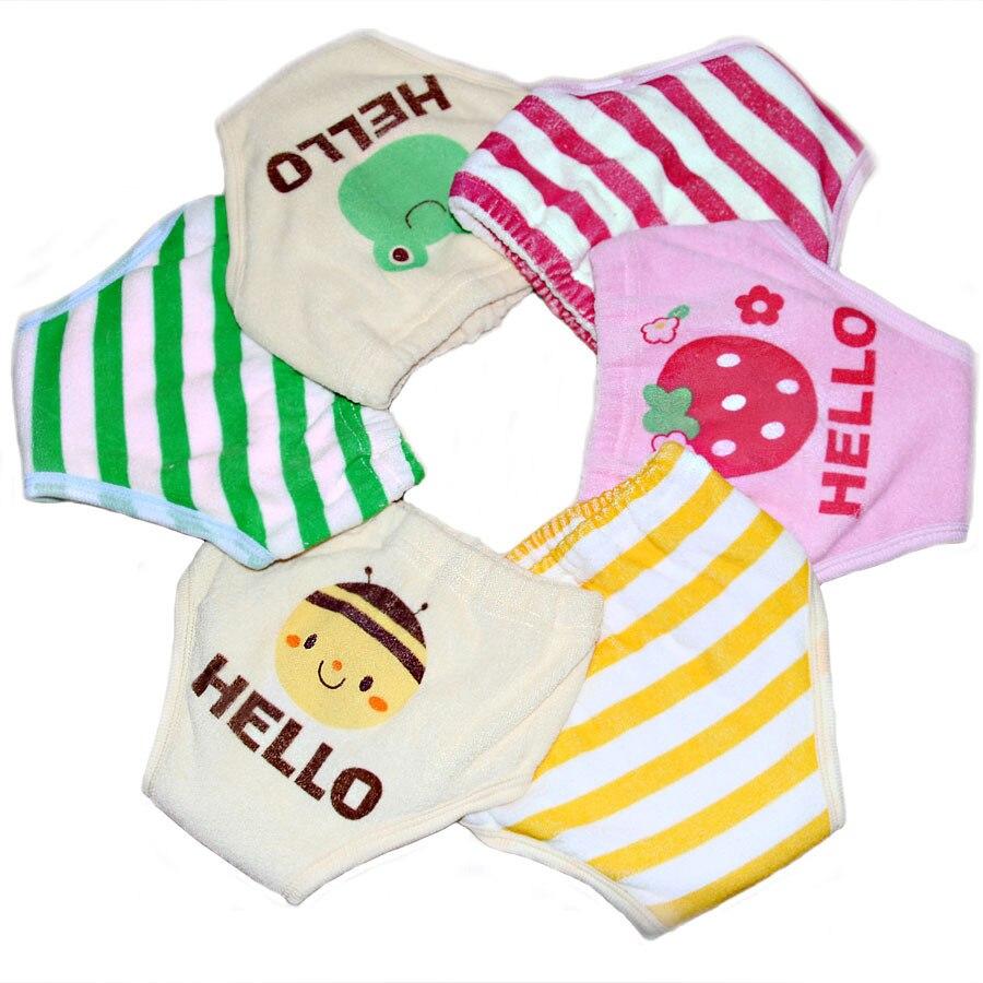 2st / lot 6 lager återanvändbar baby träning shorts spädbarn - Blöjor och potträning - Foto 2
