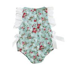 Cute Newborn Baby Girls Lace Floral Jumpsuit Outfits One-Pieces Clothes 0-24M
