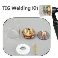 New 5PCS 1.0/2.0/1.6/2.4/3.2mm TIG Welding Torch Gas Lens Pyrex Cup Kit For WP 9 20 Series