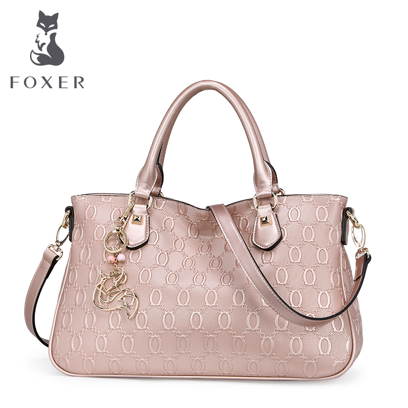 FOXER luxury designer handbag young women leather shoulder bag fashion totes ladies messenger bags crossbody for women wristlets fashion women leather handbag crossbody shoulder messenger phone coin bag for party or appointment as designer gift a7