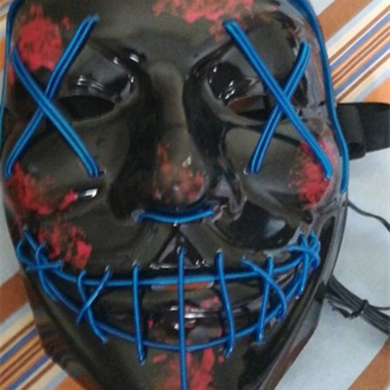 2018 Halloween Led Light Up Rave Mask \