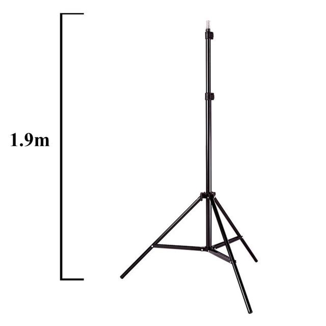 Photo Studio 8 LED 24W Softbox Kit Photographic Lighting Kit Camera Photo Accessories 2 Light Stand 2 Softbox 2 Lamp Holder 6