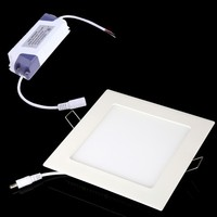 18W AC 86 265V Ultra Thin Square Ceiling Panel Light Wall Recessed Down Lamp 1600LM SMD2835