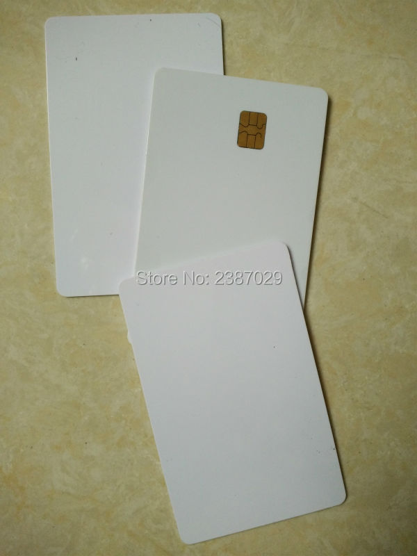 rfid card white color CR80 contact FM4442 smart blank chip card from factory (200PCS/LOT) 100sheets lot new a4 size white blank glossy