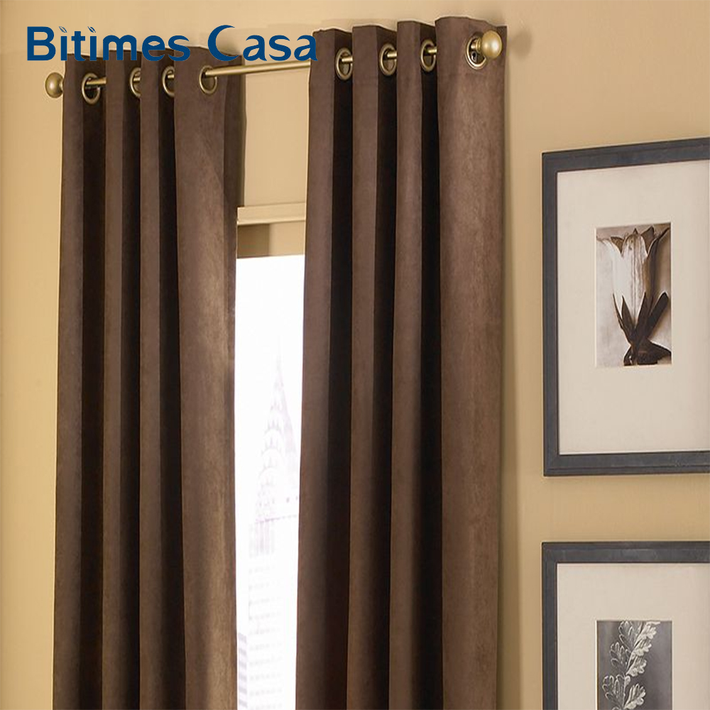 Luxury Suede Full 100 Blackout Windows Curtain Drapes Panel Lined