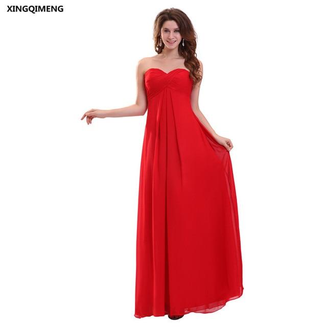 e3bbee21b0 US $58.0 |Cheap Simple Red Chiffon Evening Dress Empire Waist Formal  Evening Dresses Long Pregnant Women Gowns Women Gown Fashion-in Evening  Dresses ...