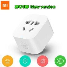 Новинка 2018, умная розетка Xiaomi Mijia с Wi Fi, Wi Fi, версия с беспроводным дистанционным адаптером питания, включение и выключение с помощью телефона