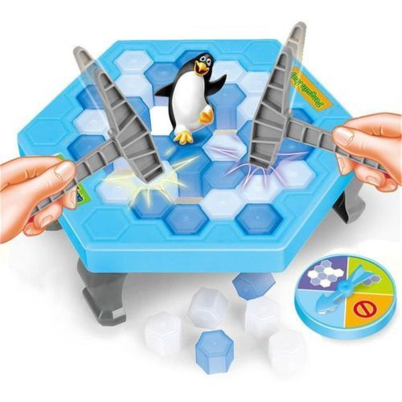 Penguin Trap Icebreaker Kid Child Puzzle Desktop Knock Ice Block Family Game 2018 Hot Family Game Fits novelty educational puzzle toy saving penguin desktop game