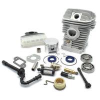 MS250 Chainsaw Cylinder Piston Kit Needle Bearing Carburetor Muffler Gasket Oil Seal Pump Fuel Air Filters Hose Spark Plug