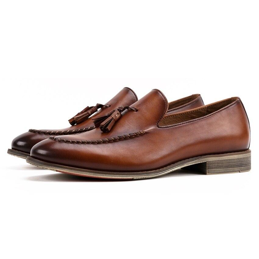 dc0e5a4e39fc Noir Confortable Sur New Rond En Vintage Mâle Main coffee Glissement Bout  Hommes Fleur Mocassins Cuir marron Occasionnel Kud203 Homme Pleine  Chaussures ...