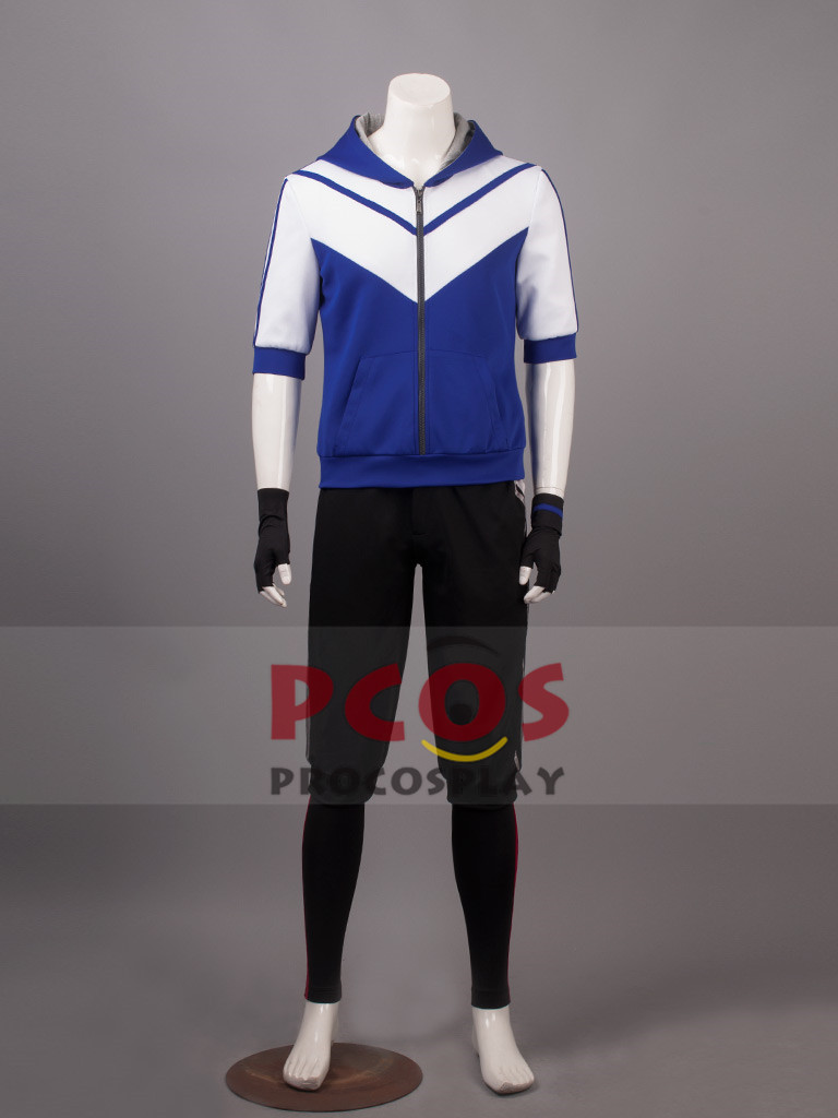 Pokemon Go Male Blue Cosplay Costume & Hat mp003520