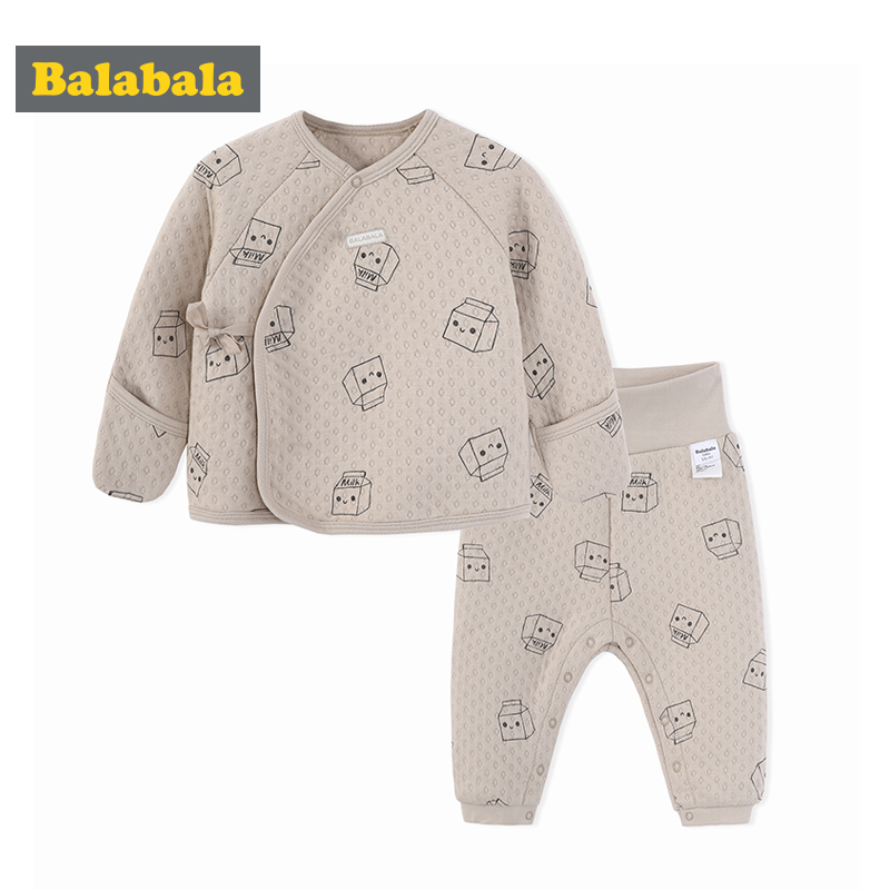 Balabala baby boys girls clothing set children 100% cotton clothes infant clothes cartoon printed child costume spring suit set cotton baby rompers set newborn clothes baby clothing boys girls cartoon jumpsuits long sleeve overalls coveralls autumn winter