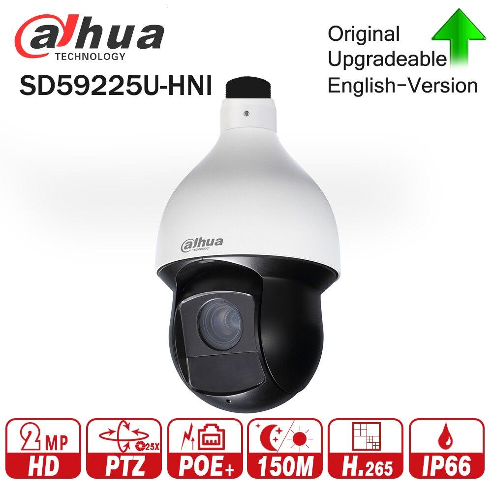 Dahua SD59225U-HNI 2MP 25x Starlight IR PTZ Network IP Camera 4.8-120mm 150m IR Starlight H.265 Encoding Auto-tracking IVS PoE+ cctv security sd6c225i hc 2mp 25x starlight ir 150m 4 8 120mm ptz hdcvi camera