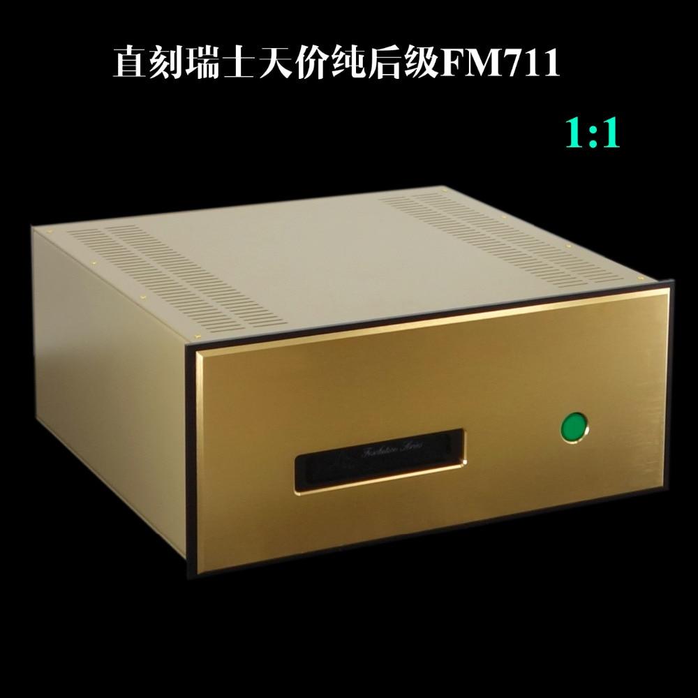 Direct gravure FM711MK2 HIFI amplificateur 250 w + 250 w 8 ohm entrée symétrique pur dernière étape amplificateur