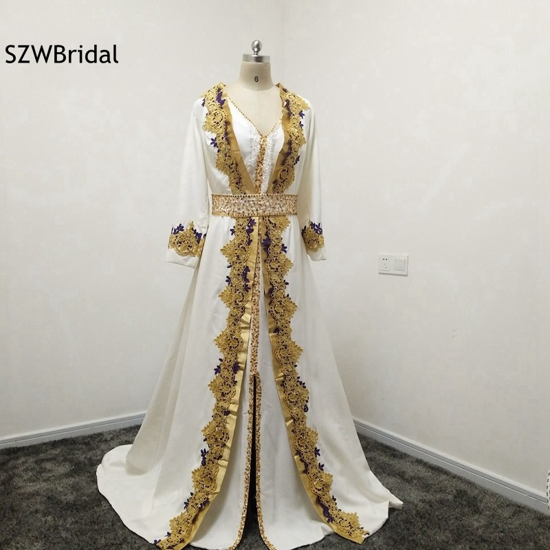 New Arrival Custom Made Lace Appliques Beaded Kaftan Evening Dress Long Sleeve Two Piece Saudi Arabic Evening Gowns Plus Size Agreeable Sweetness Weddings & Events