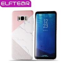 ELFTEAR Гранит Мрамор Текстура Чехол Для Samsung Galaxy S8 S8 плюс S7 S7 Края Геометрической Сращивания Камень Телефон Обложка Fundas капа