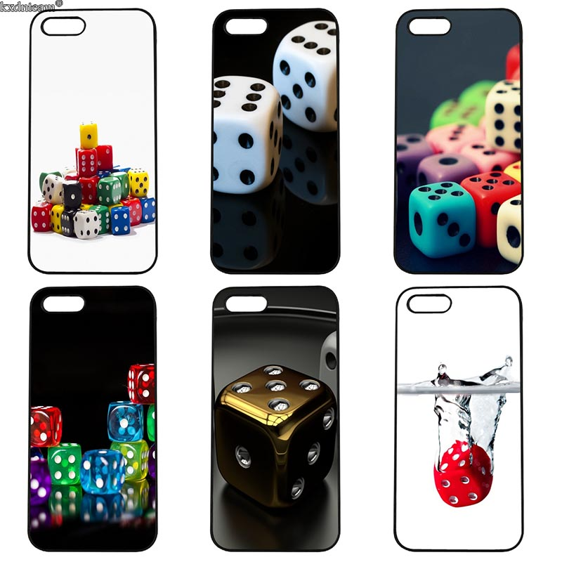 Mobile Phone Case Dice Pattern Hard PC Anti-knock Cover Fitted for iphone 8 7 6 6S Plus X 5S 5C 5 SE 4 4S iPod Touch 4 5 6 Shell