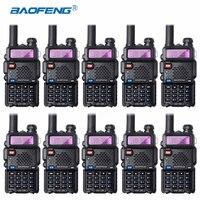 10 шт Bao feng UV 5R рации Оптовая Baofeng UV5R CB радио УКВ УВЧ Dual Band двухстороннее радио 5 W VOX фонарик Любительское радио