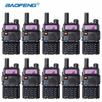 10Pcs Bao Feng UV 5R Walkie Talkie Wholesale Baofeng UV5R CB Radio VHF UHF Dual Band Two Way Radio 5W VOX Flashlight Ham Radio