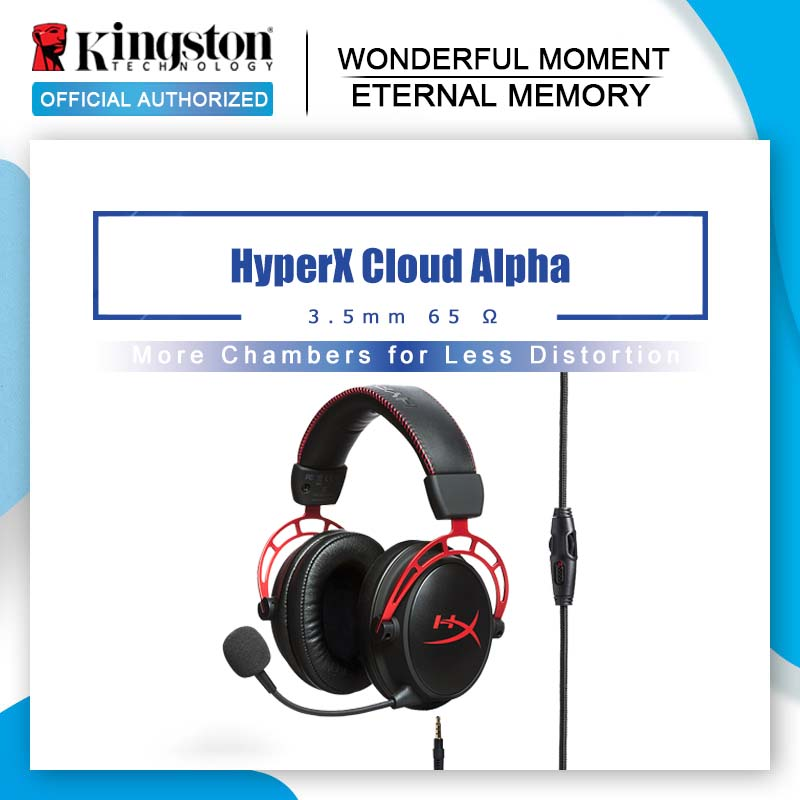 Kingston Gaming Headset HyperX Cloud Alpha With a microphone For PC PS4 Xbox Mobile devices