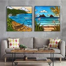 Hawaii praia pop arte em tela impressão da arte pintura poster parede fotos para sala de estar decoração casa decorativa sem moldura