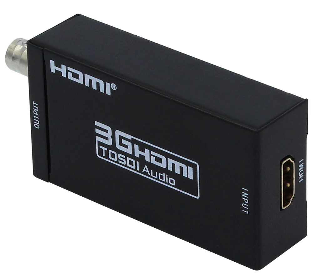 1 Piece Only Mini 3G 1080P HDMI To SDI SD SDI HD SDI 3G SDI HD Video Converter With Power Adapter In Retail Package