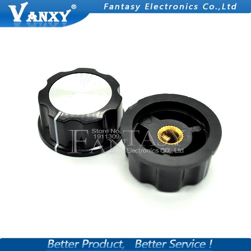 5pcs Hat MF-A04 Potentiometer Knob WH118 WX050 Bakelite Knob Copper Core Inner Hole 6mm