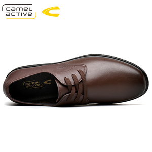 Image 2 - Camel Active 2019 New Men Wedding Black Lace Up Oxford Genuine Leather Shoes Spring/Autumn Party Business Male Dress Brown Shoes