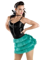 2016 New Latin Dance Skirt Girls Stage Show Dancing Tessel Skirt Student School Latin Dancing Competition