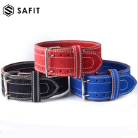 Leather Weightlifting Belt Powerlifting, Gym, Exercise Back Support Squats, Power Cleans Heavy Duty Men Women